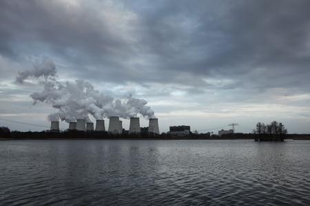 lower lusatia: Janschwalde Power Station near Cottbus in Lower Lusatia, Brandenburg, Germany. Stock Photo