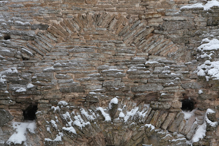 loophole: Talavskaya Tower of the Izborsk Fortress near Pskov, Russia.
