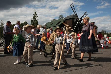 lower lusatia: BURG, GERMANY - AUGUST 28, 2011: People attend the Sorbian harvest festival in the Lusatian village of Burg in Spreewald Region, Lower Lusatia, Brandenburg, Germany. Editorial