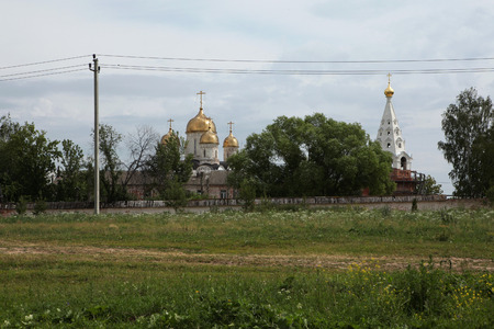 16th: Cathedral of the Nativity of the Virgin from the 16th century in the Luzhetsky monastery in Mozhaysk near Moscow, Russia.
