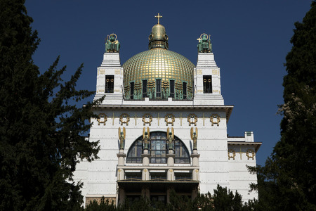 wagner: Kirche am Steinhof (1907) designed by Austrian architect Otto Wagner in Vienna, Austria.