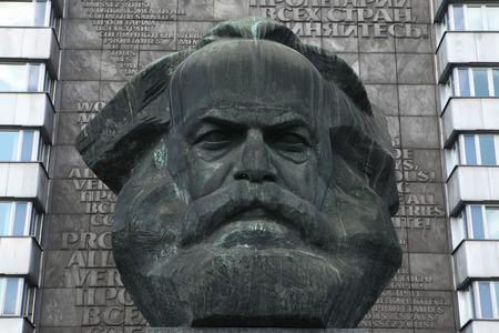 karl: CHEMNITZ, GERMANY - MAY 8, 2012: Karl Marx Monument by Soviet sculptor Lev Kerbel in Chemnitz, Saxony, Germany.