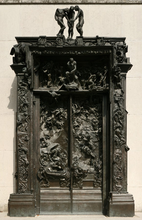 rodin: PARIS, FRANCE - JULY 11, 2010: The Gates of Hell designed by French sculptor Auguste Rodin displayed in the garden of the Rodin Museum in Paris, France.