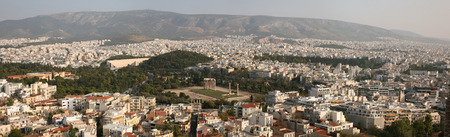 olympian: ATHENS, GREECE - OCTOBER 20, 2008: Temple of Olympian Zeus in Athens, Greece. Panorama from the Acropolis of Athens.