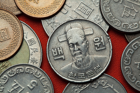 commander: Coins of South Korea. Korean naval commander Yi Sun-sin depicted in the South Korean 100 won coin.