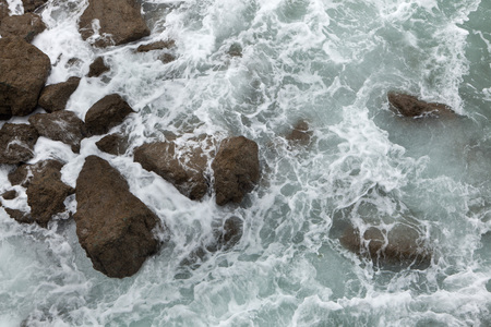 breaking waves: Breaking waves in Biarritz, French Basque Country, France. Stock Photo
