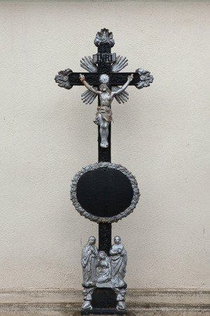 Crucifix at the Central Cemetery in Brno, Czech Republic. Stock Photo
