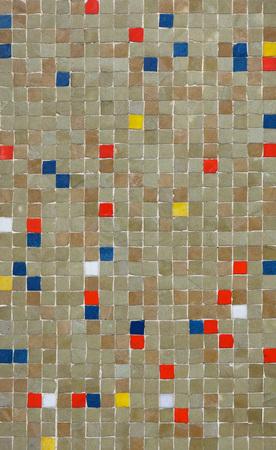 Coloured mosaic tiles. Background texture.