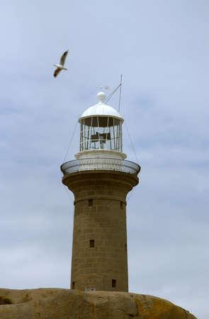Historic Granite Lighthouse on island