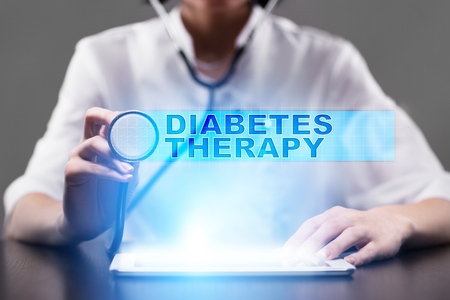 hyperglycemia: diabetes therapy. medical concept.
