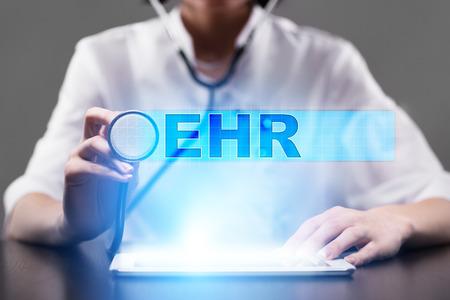 ehr. medical concept. Stock Photo