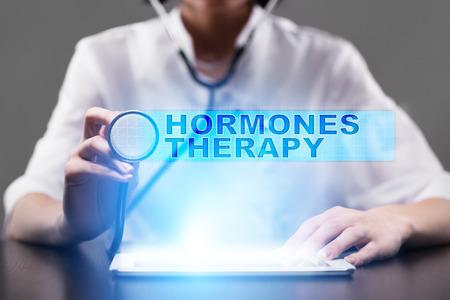 hormonas: la terapia de hormonas. concepto médico. Foto de archivo