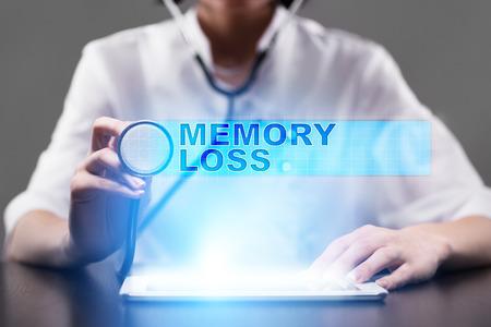 memory loss. medical concept.