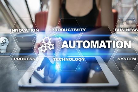 repeatability: Automation concept as an innovation, improving productivity, reliability and repeatability in technology and business processes.