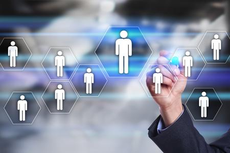 Personalmanagement, HR, Rekrutierung, Führung und Teambuilding. Geschäfts- und Technologiekonzept. Standard-Bild - 79466851