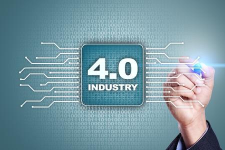 Industrie 4.0 IOT. Internet der Dinge. Intelligentes Fertigungskonzept. Industrial 4.0 Prozessinfrastruktur. Hintergrund. Standard-Bild - 79519562
