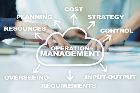 Operation management business and technology concept. Banco de Imagens
