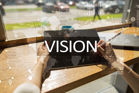 Vision concept. Business, Internet and technology concept. Stock Photo