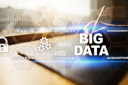 select: Big data technology and internet concept.