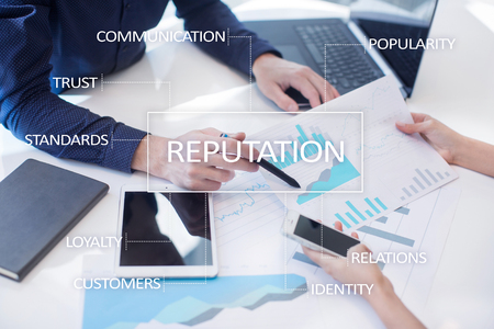 Reputation and customer relationship business cocnept.