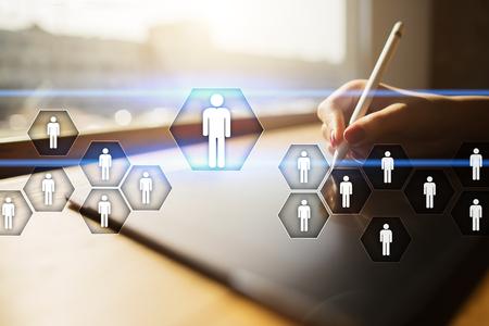 Personalmanagement, HR, Rekrutierung, Führung und Teambildung. Geschäfts- und Technologiekonzept. Standard-Bild - 80553653