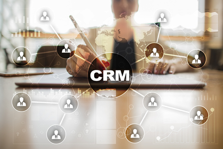 CRM. Customer relationship management concept. Customer service and relationship. Stok Fotoğraf - 80553844