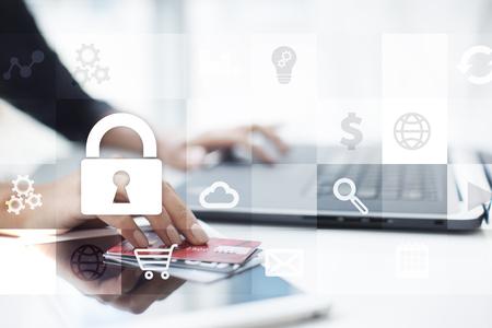 Datenschutz und Cyber-Sicherheitskonzept Standard-Bild - 80554198