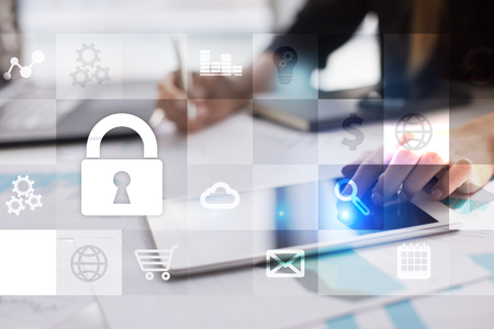 Data protection and cyber security concept.