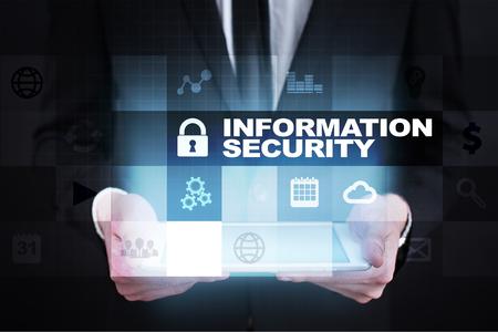 Seguridad de la información y concepto de protección de datos. Foto de archivo - 80554520