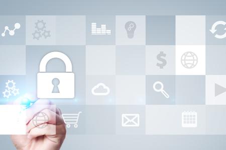 Datenschutz- und Cyber-Sicherheitskonzept. Standard-Bild - 80554607
