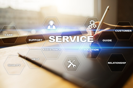 advice: Customer service and relationship concept.