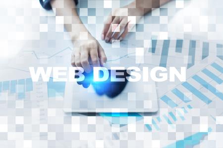 Web design and development concept. Stock Photo
