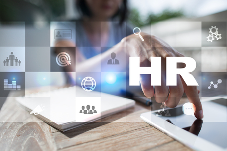 Human resource management, HR, recruitment, leadership and teambuilding. Business and technology concept. Stock Photo
