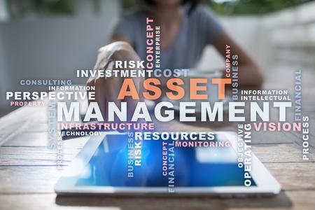 digital asset management: Asset management words cloud.
