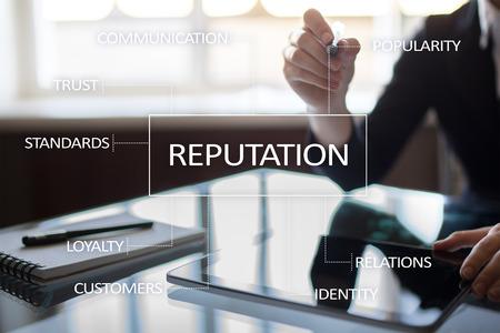 Reputation en klantrelatie business cocnept.