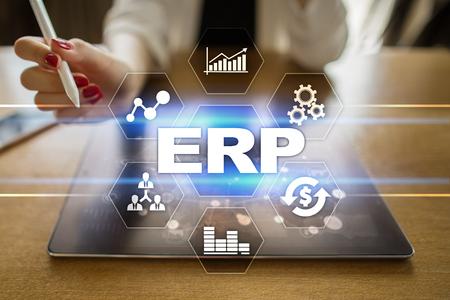 Enterprise resources planning business and technology concept. Banque d'images