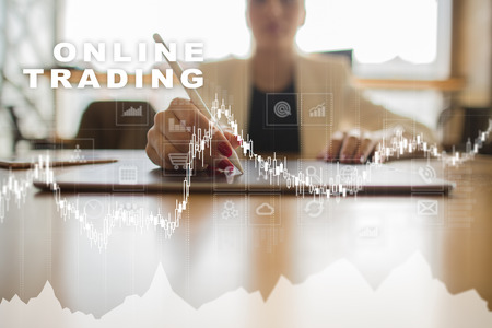 Online trading. internet investment. Business and technology concept. Stock Photo