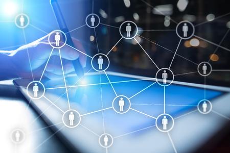 Personalmanagement, HR, Rekrutierung, Führung und Teambuilding. Geschäfts- und Technologiekonzept. Standard-Bild - 87875618