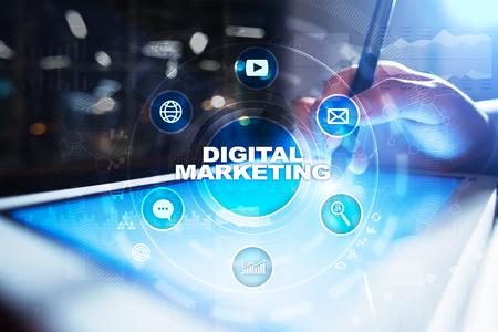 DIgital marketing technology concept. Internet. Online. Search Engine Optimisation. SEO. SMM. Advertising.