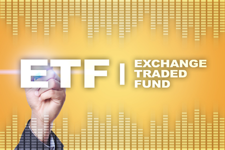 ETF. Exchange traded fund. Business, intenet and technology concept.?