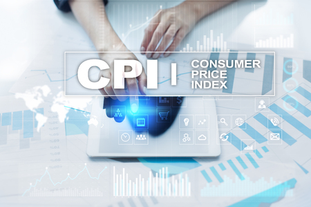 CPI. Consumer price index concept on virtual screen. Stock fotó - 89531405