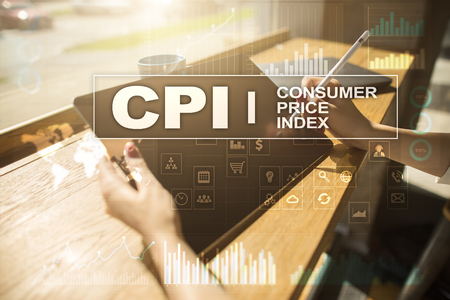 CPI. Consumer price index concept on virtual screen. Stock fotó - 89531407
