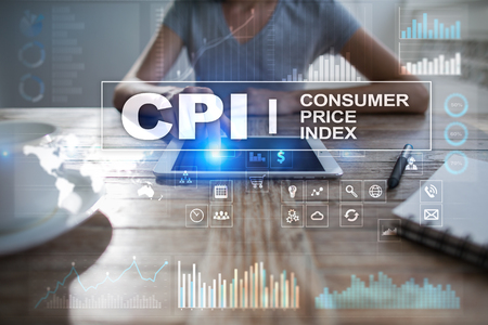CPI. Consumer price index concept on virtual screen. Stock fotó - 89531019