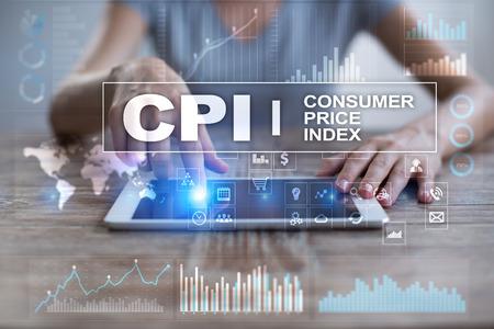 CPI. Consumer price index concept on virtual screen. Stock fotó - 89531023