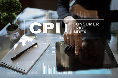 CPI. Consumer price index concept on virtual screen. Stock fotó - 89530828