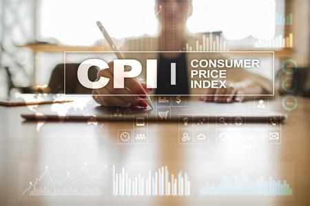 CPI. Consumer price index concept on virtual screen. Stock fotó - 89530844