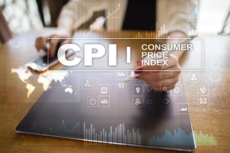 CPI. Consumer price index concept on virtual screen. Stock fotó - 89530559