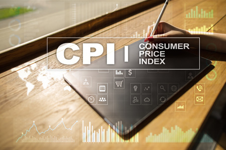 CPI. Consumer price index concept on virtual screen. Stock fotó - 89530560