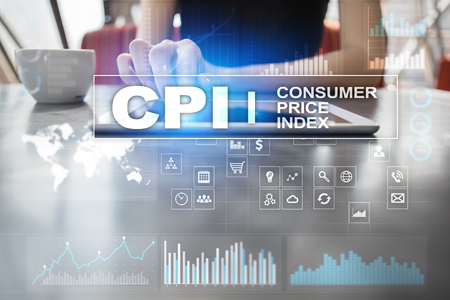 CPI. Consumer price index concept on virtual screen. Stock fotó - 89530573