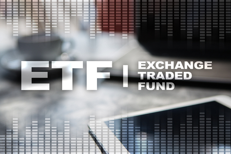 ETF. Exchange traded fund. Business, internet and technology concept.
